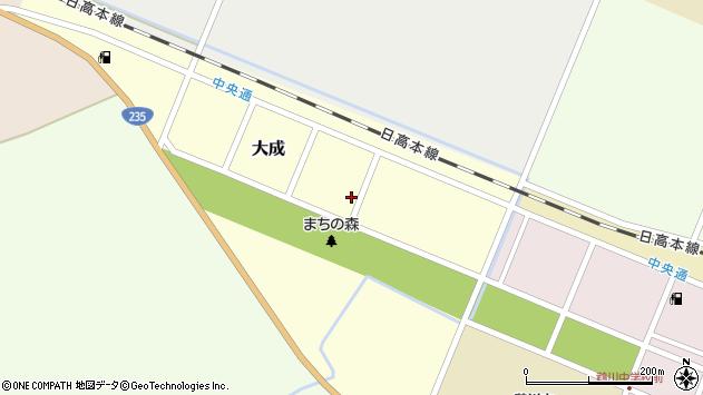 〒054-0052 北海道勇払郡むかわ町大成の地図