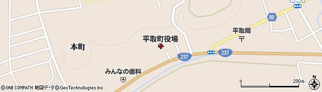 北海道沙流郡平取町周辺の地図