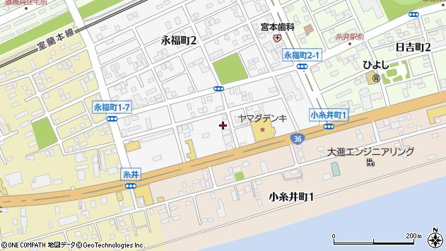〒053-0815 北海道苫小牧市永福町の地図