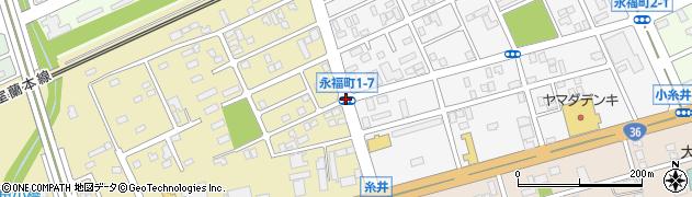 永福町1‐7周辺の地図