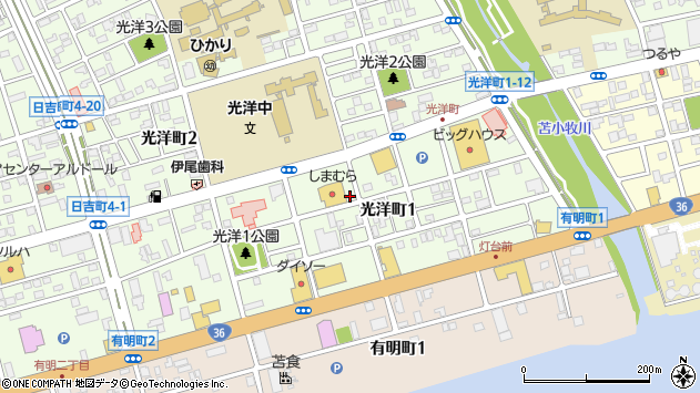 〒053-0811 北海道苫小牧市光洋町の地図