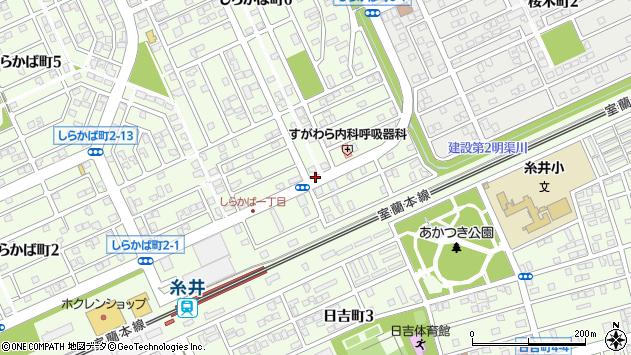 〒053-0821 北海道苫小牧市しらかば町の地図
