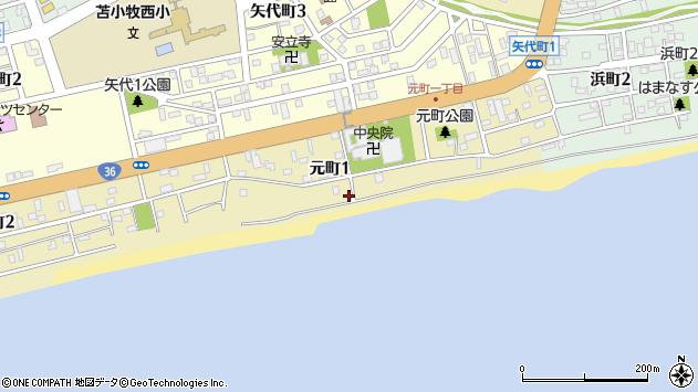 〒053-0804 北海道苫小牧市元町の地図