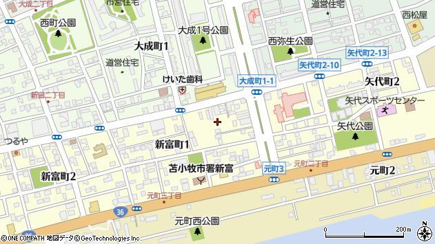 〒053-0805 北海道苫小牧市新富町の地図