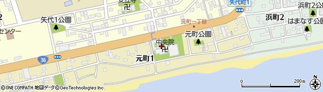 中央院周辺の地図