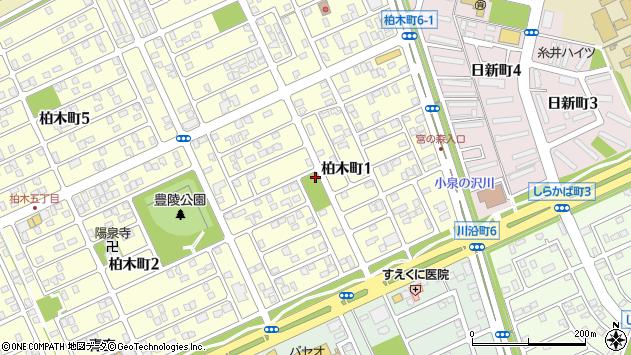 〒053-0823 北海道苫小牧市柏木町の地図