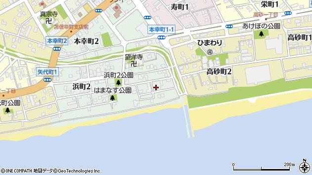 〒053-0014 北海道苫小牧市浜町の地図