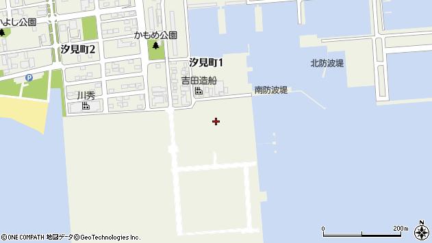 〒053-0012 北海道苫小牧市汐見町の地図