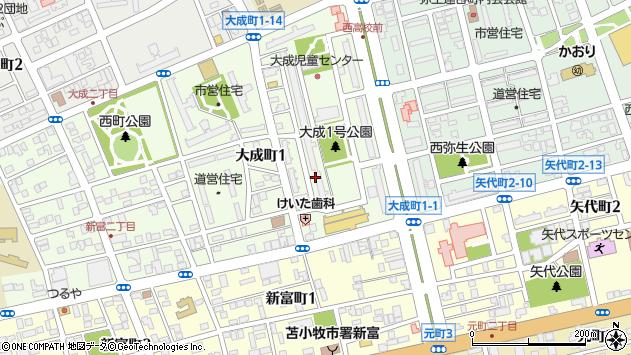 〒053-0806 北海道苫小牧市大成町の地図