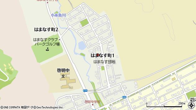 〒053-0845 北海道苫小牧市はまなす町1丁目の地図