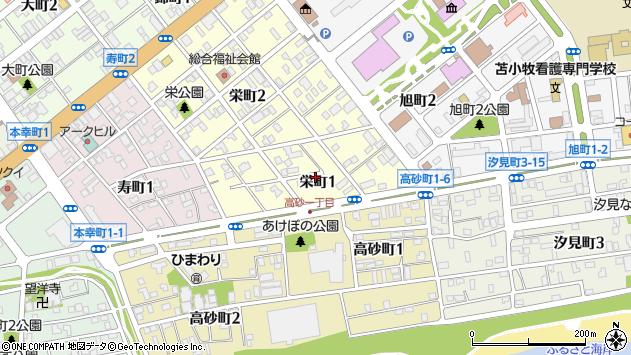 〒053-0017 北海道苫小牧市栄町の地図