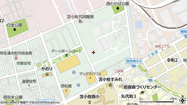 〒053-0802 北海道苫小牧市弥生町の地図