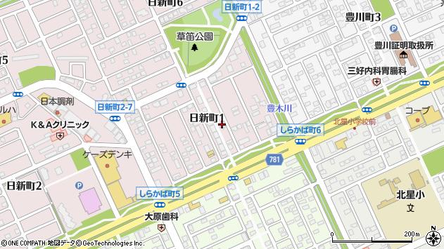 〒053-0833 北海道苫小牧市日新町の地図
