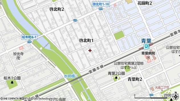 〒053-0854 北海道苫小牧市啓北町の地図