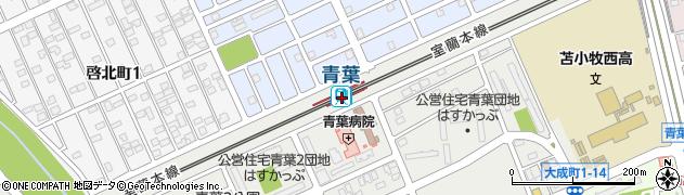 北海道苫小牧市周辺の地図