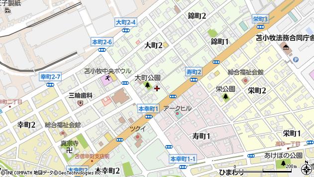 〒053-0024 北海道苫小牧市大町の地図