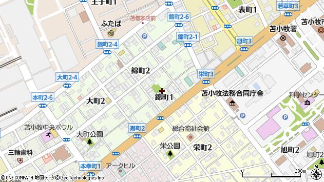 〒053-0023 北海道苫小牧市錦町の地図