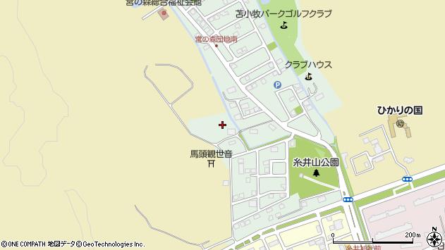 〒053-0844 北海道苫小牧市宮の森町の地図