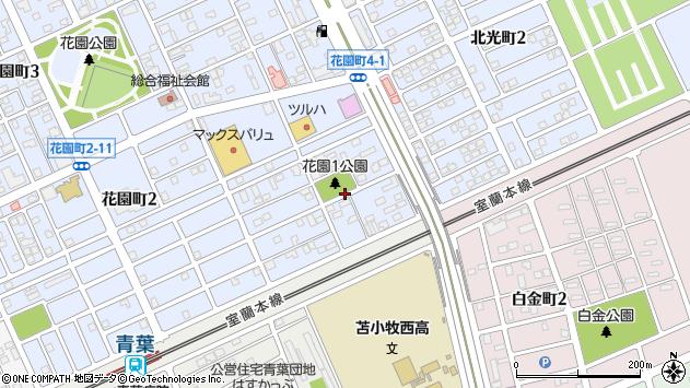 〒053-0853 北海道苫小牧市花園町の地図