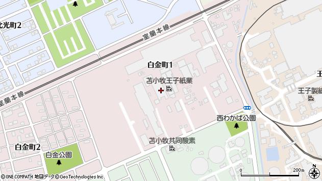 〒053-0801 北海道苫小牧市白金町の地図