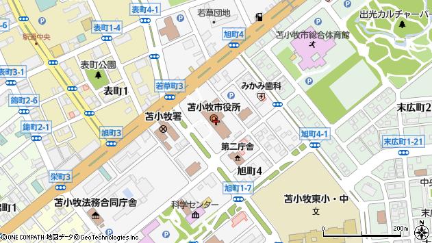 〒053-0000 北海道苫小牧市(以下に掲載がない場合)の地図