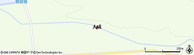 北海道寿都郡黒松内町上大成周辺の地図