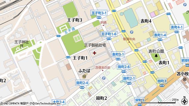 〒053-0027 北海道苫小牧市王子町の地図