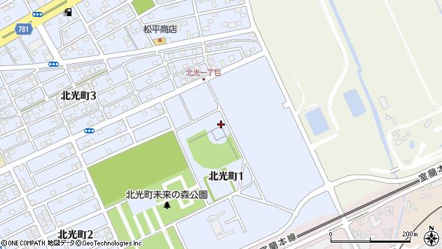 〒053-0852 北海道苫小牧市北光町の地図