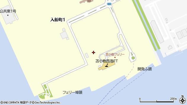 〒053-0003 北海道苫小牧市入船町の地図