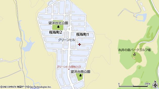 〒053-0843 北海道苫小牧市桜坂町の地図