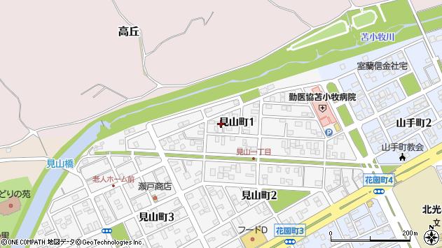 〒053-0855 北海道苫小牧市見山町の地図