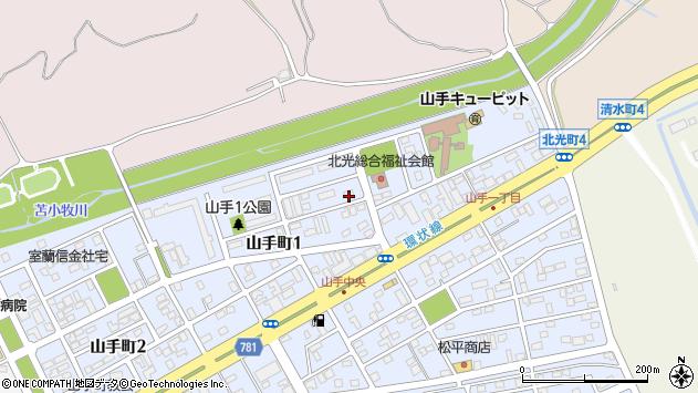〒053-0851 北海道苫小牧市山手町の地図