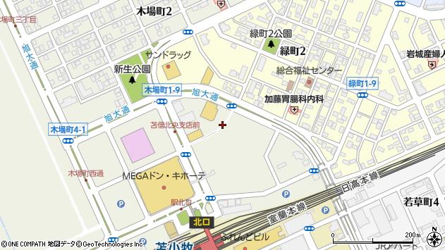 〒053-0033 北海道苫小牧市木場町の地図