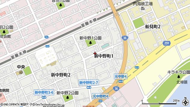 〒053-0006 北海道苫小牧市新中野町の地図