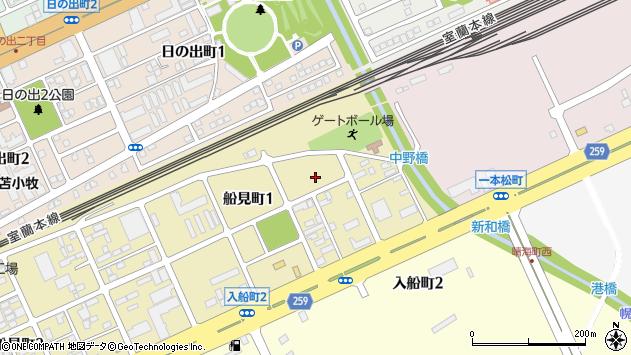 〒053-0007 北海道苫小牧市船見町の地図