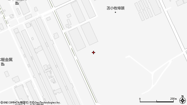 〒059-1374 北海道苫小牧市晴海町(1〜42番地)の地図