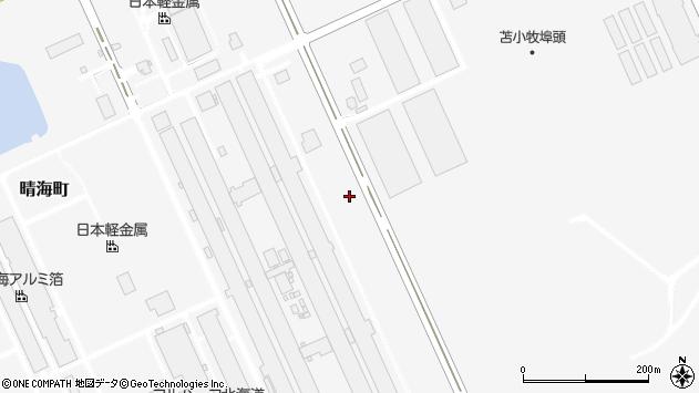 〒053-0002 北海道苫小牧市晴海町43番地の地図