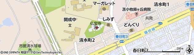 仏宝寺周辺の地図