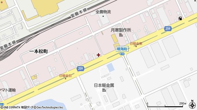 〒053-0001 北海道苫小牧市一本松町(6〜15番地)の地図
