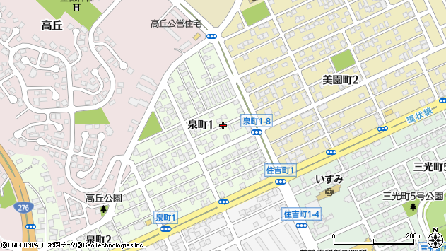 〒053-0047 北海道苫小牧市泉町の地図