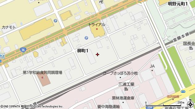 〒053-0053 北海道苫小牧市柳町の地図