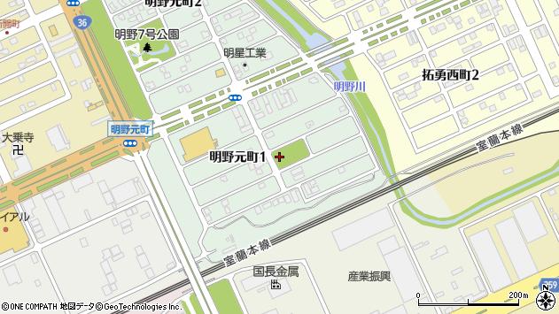 〒053-0051 北海道苫小牧市明野元町の地図