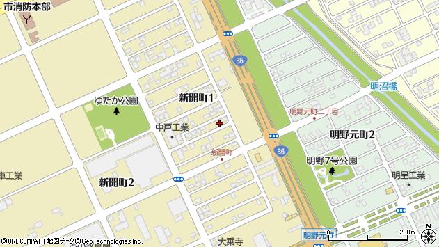 〒053-0052 北海道苫小牧市新開町の地図