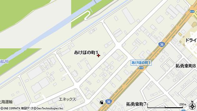 〒059-1366 北海道苫小牧市あけぼの町2丁目の地図
