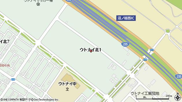〒059-1306 北海道苫小牧市ウトナイ北の地図