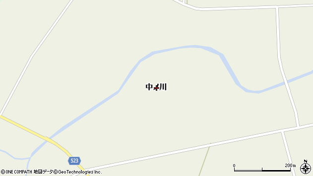 〒048-0123 北海道寿都郡黒松内町中ノ川の地図