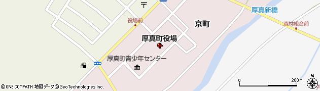 北海道厚真町(勇払郡)周辺の地図