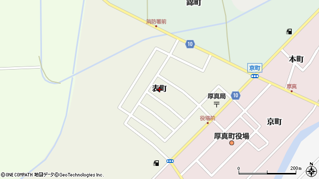 〒059-1602 北海道勇払郡厚真町表町の地図