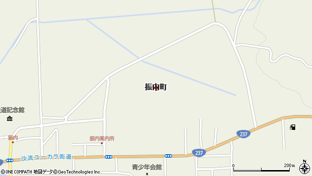 〒055-0411 北海道沙流郡平取町振内町の地図