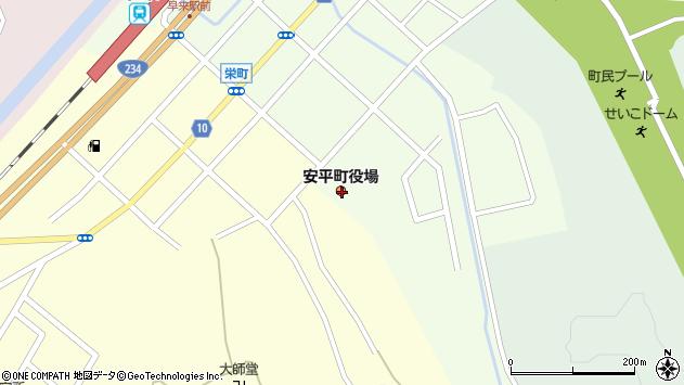 〒059-1500 北海道勇払郡安平町(以下に掲載がない場合)の地図